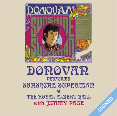 Donovan at The Royal Albert Hall SIGNED square 2