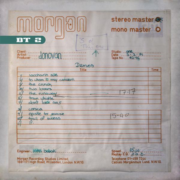 BURIED TREASURES 2 - The Morgan Studios Sessions 1971 (wav HD Audio)
